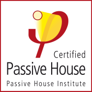 Certified Passive House Institute logo from the Passive Hosue Institute