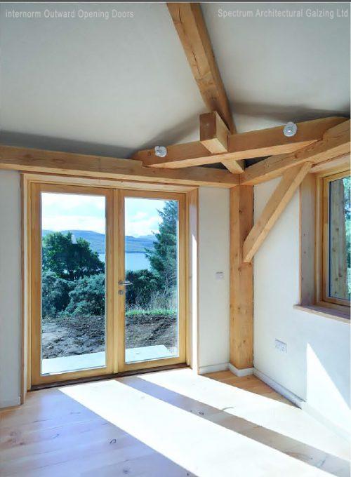 Sustainable Timber/Aluminium Windows at Achabeag in the Highlands of Scotland