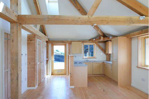 Interrior: Kastrup Sustanable Timber/Aluminium Windows at Achabeag in the Highlands of Scotalnd