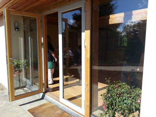 Kastrup Sustainable Timber/Aluminium Doors at Achabeag in the Highlands of Scotland