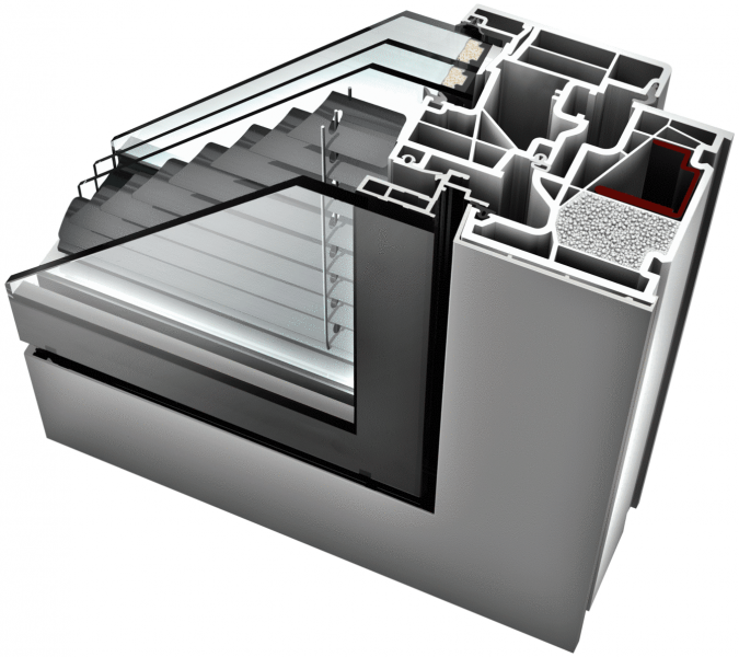 Internorm KV 440 Aluminium/UpvcWindow profile