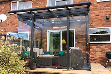 Solarlux Glass Room with SL25 sliding glass