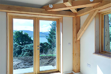 Achabeag: sustainable homes with Kastrup timber/alu windows in Scotland