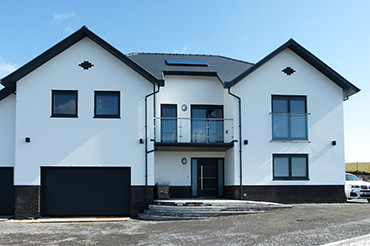 New Custom-Built house on the Welsh coast with Internorm Windows and Solarlux canopies