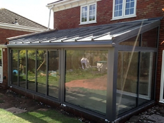 Solarlux glass extension