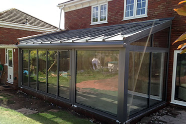 Kitchen extension using a Solarlux Wintergarden with insulated glazing