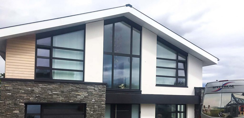 Internorm windows at a contemporary self-build house
