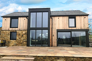 Self-build with Internorm windows & external shading blinds