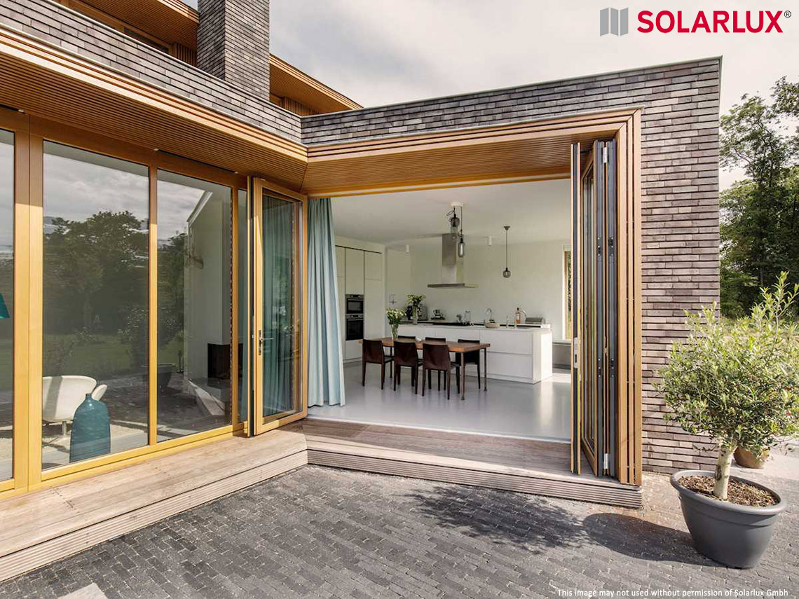 Woodline And Combiline Bifold Doors From Solarlux Spectrum