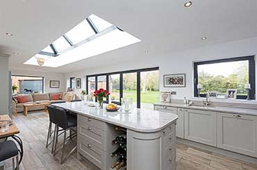 Kastrup windows & Solarlux roof lantern + bifolds