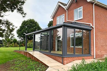 Solarlux Glass Extension with Canopy