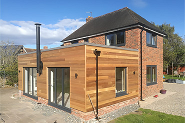 Bespoke-built timber-framed home with stunning Internorm anodised aluminium/timber windows & doors