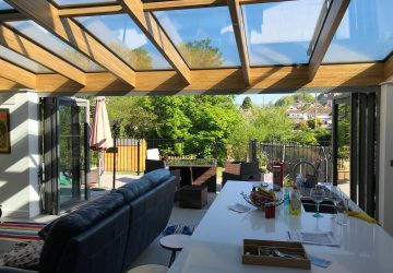 Solarlux Avantgarde Wintergarden with Oak Beams