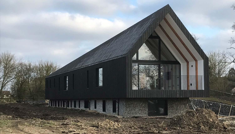 Black Barn In Suffolk With Internorm Triple Glazing