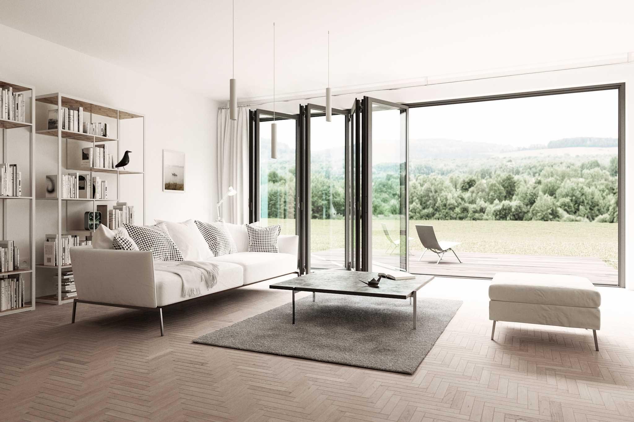 Solarlux Bifold Doors in Alumium - custom-built in Germany