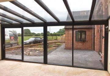 Solarlux Wintergarden roof with Kastrup sliding doors
