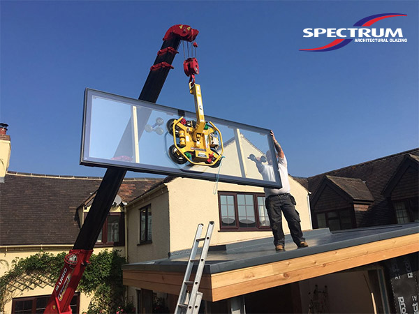 Spectrum installing a flat roof light in Telford