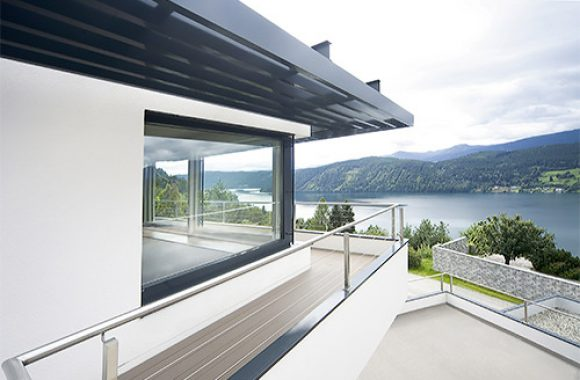 Internorm Windows overlooking a lake in Austria