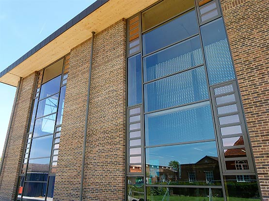 Raico curtain walling at Merchant Taylors School