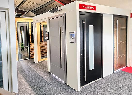 Internorm entrance doors - Newport showroom
